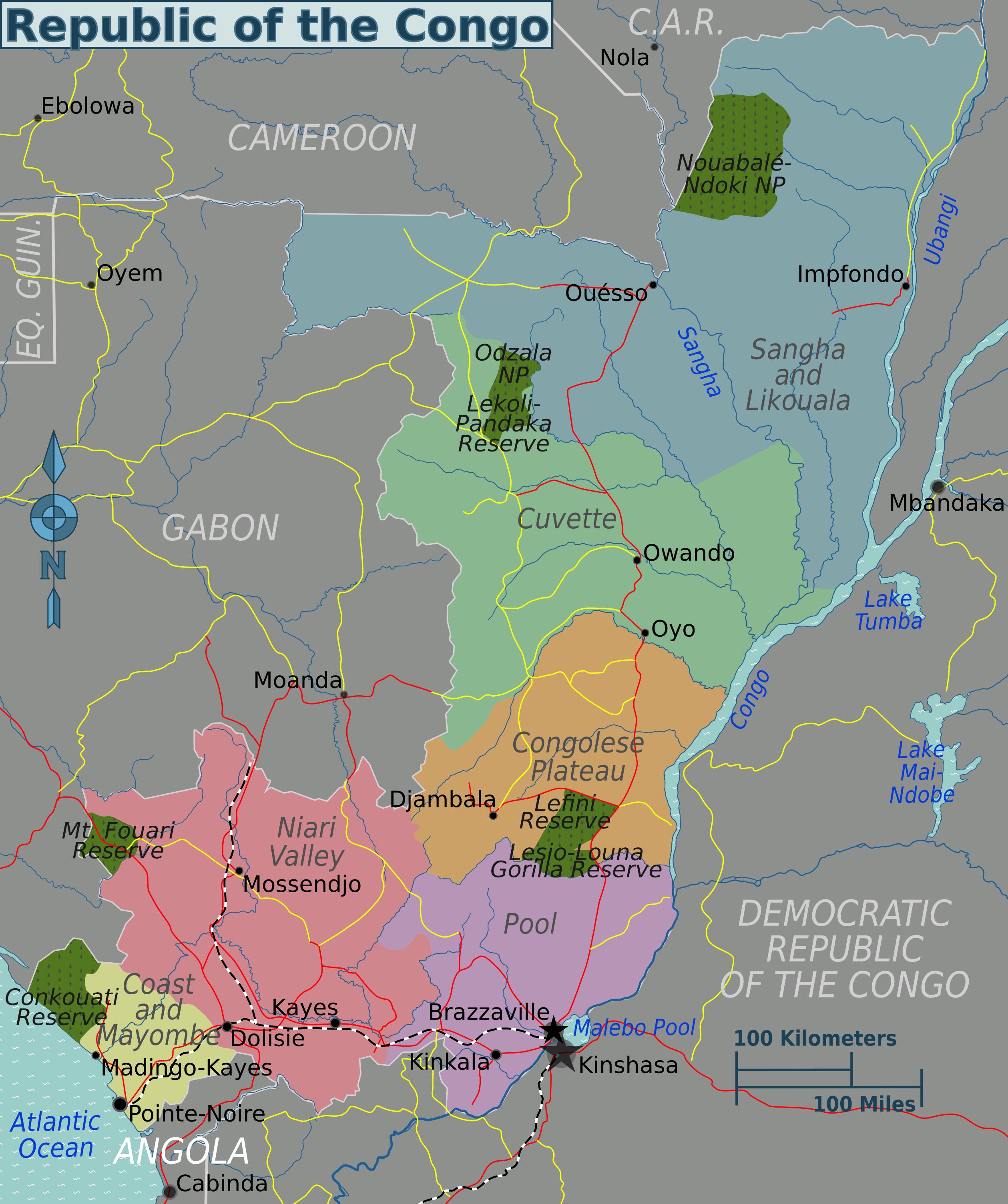 Carte De La Ville De Pointe Noire Congo