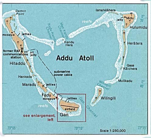 Malediven Karte Weltkarte.Landkarte Malediven Addu Atoll Weltkarte Com Karten Und