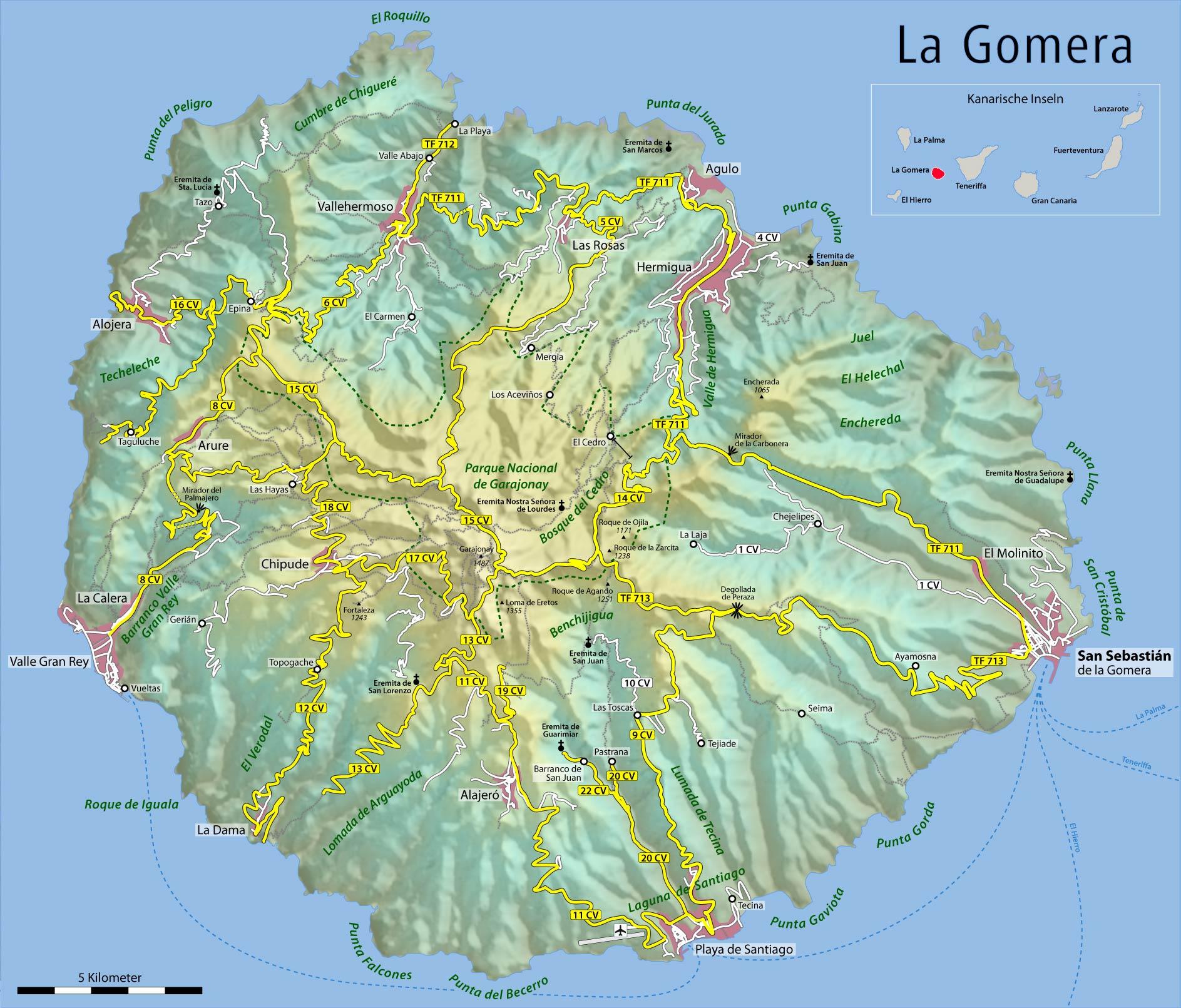 Karte Hotel La Gomera