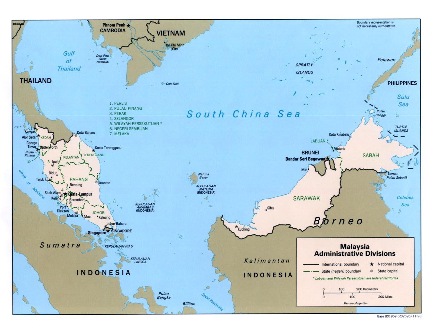 Karte Malaysia