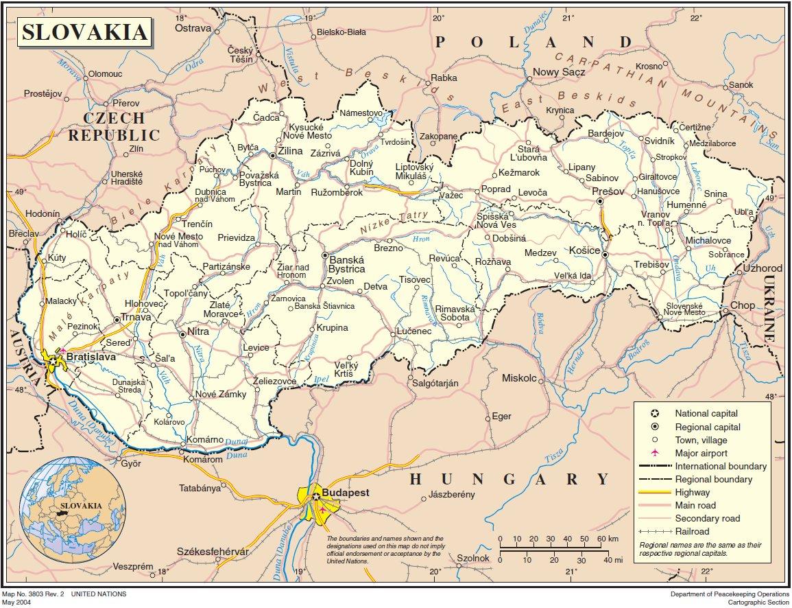 slowakei karte Landkarte Slowakei (Generelle Karte) : Weltkarte.  Karten und
