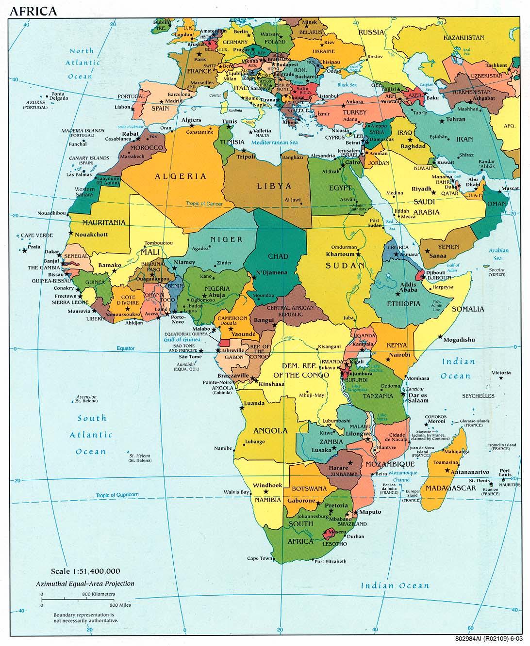 Landkarte Afrika Politische Karte Bunt Weltkarte Com Karten