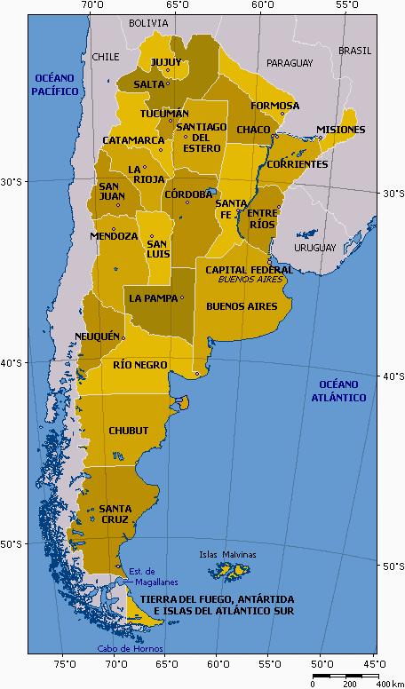 argentinien weltkarte Landkarte Argentinien (Provinzen) : Weltkarte.  Karten und  argentinien weltkarte