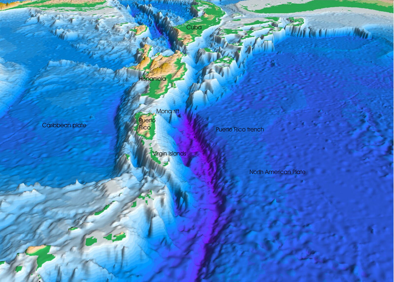 Landkarte von Puerto Rico Meereskarte  Weltkartecom  Karten