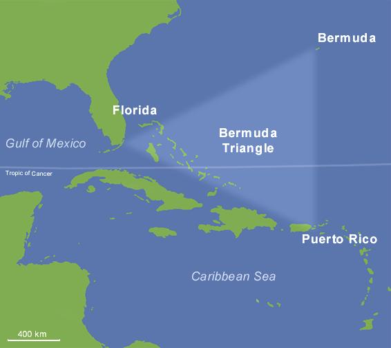 Karte des Bermudadreiecks (Übersichtskarte) : Weltkarte.com ...
