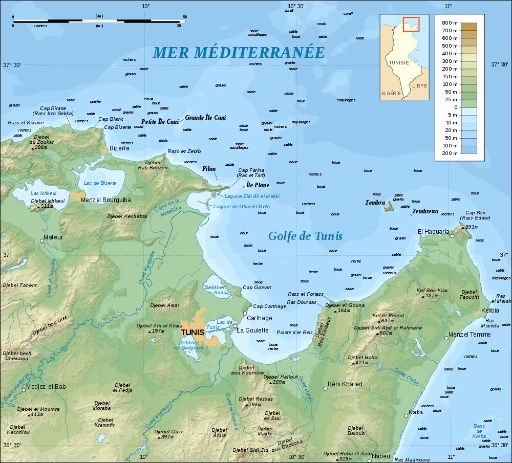 Tunesien Karte.Karte Golf Von Tunis Weltkarte Com Karten Und Stadtplane