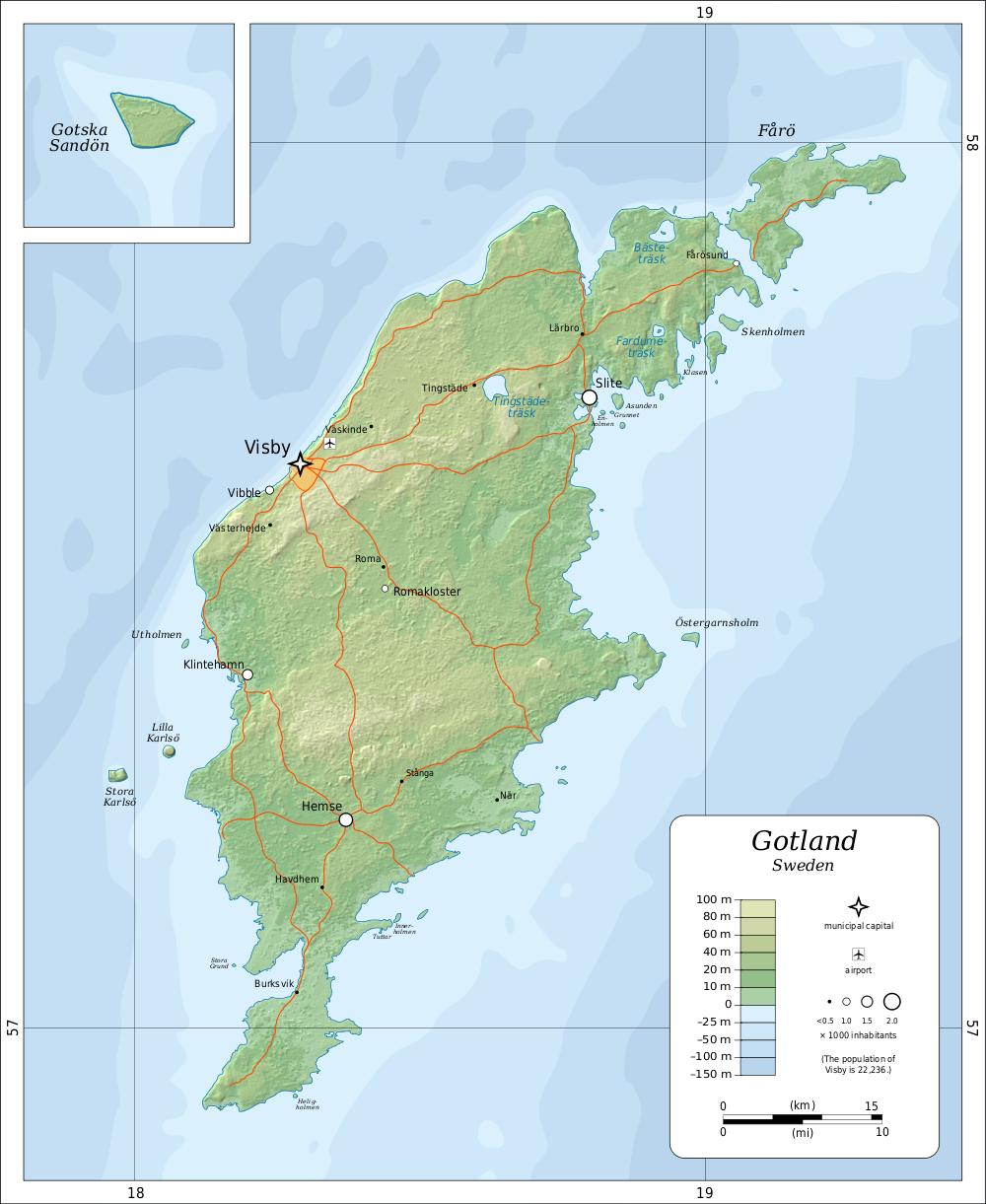 gotland karte Karte Insel Gotland (Schweden) : Weltkarte.  Karten und