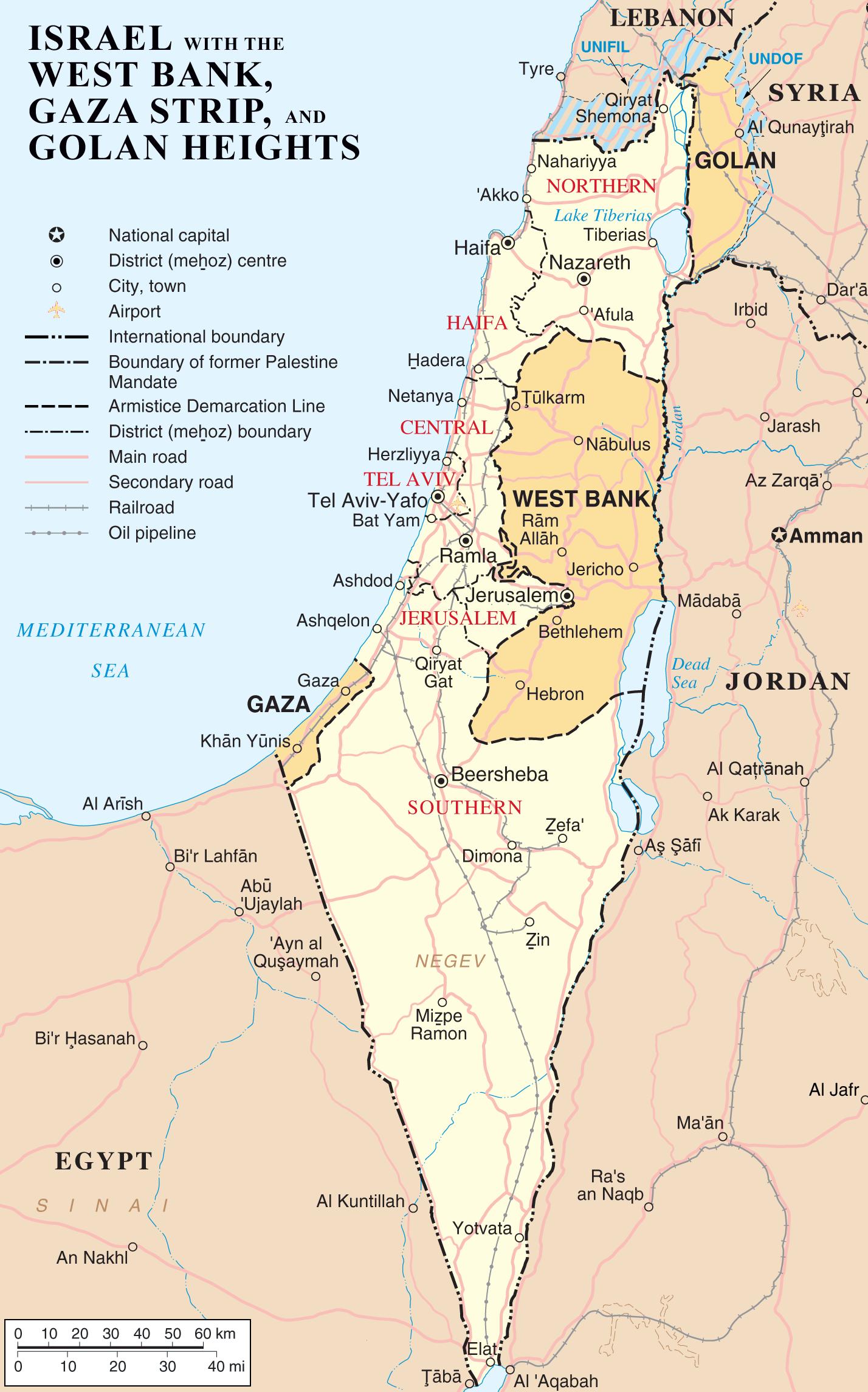 landkarte israel Landkarte Israel (Besetzte Gebiete) : Weltkarte.  Karten und  landkarte israel