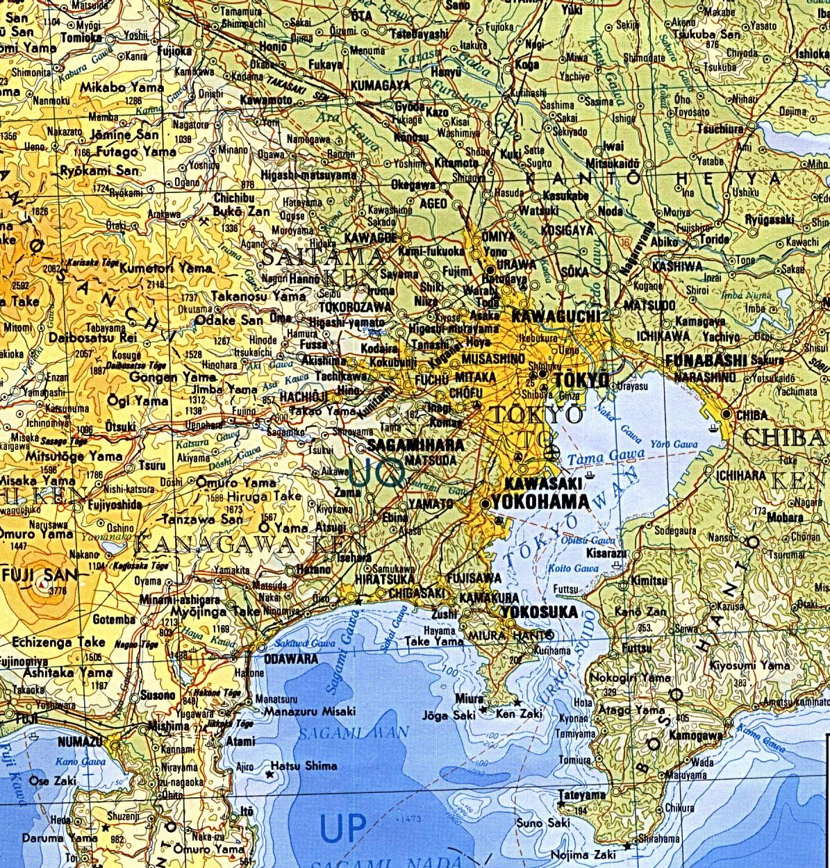 Map of Tokyo Region : Worldofmaps.net - online Maps and Travel ...