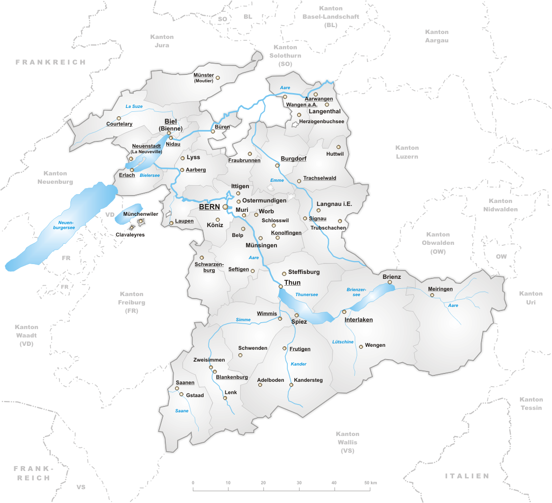 Кантон Берн и Бернское нагорье (Bernese Oberland)