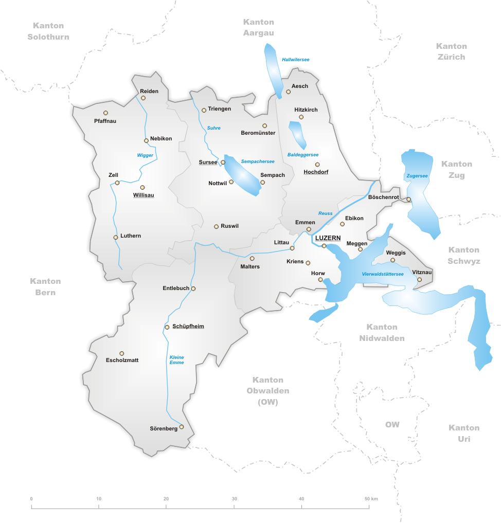 Karte kanton luzern karten und for Innendekorateur kanton luzern