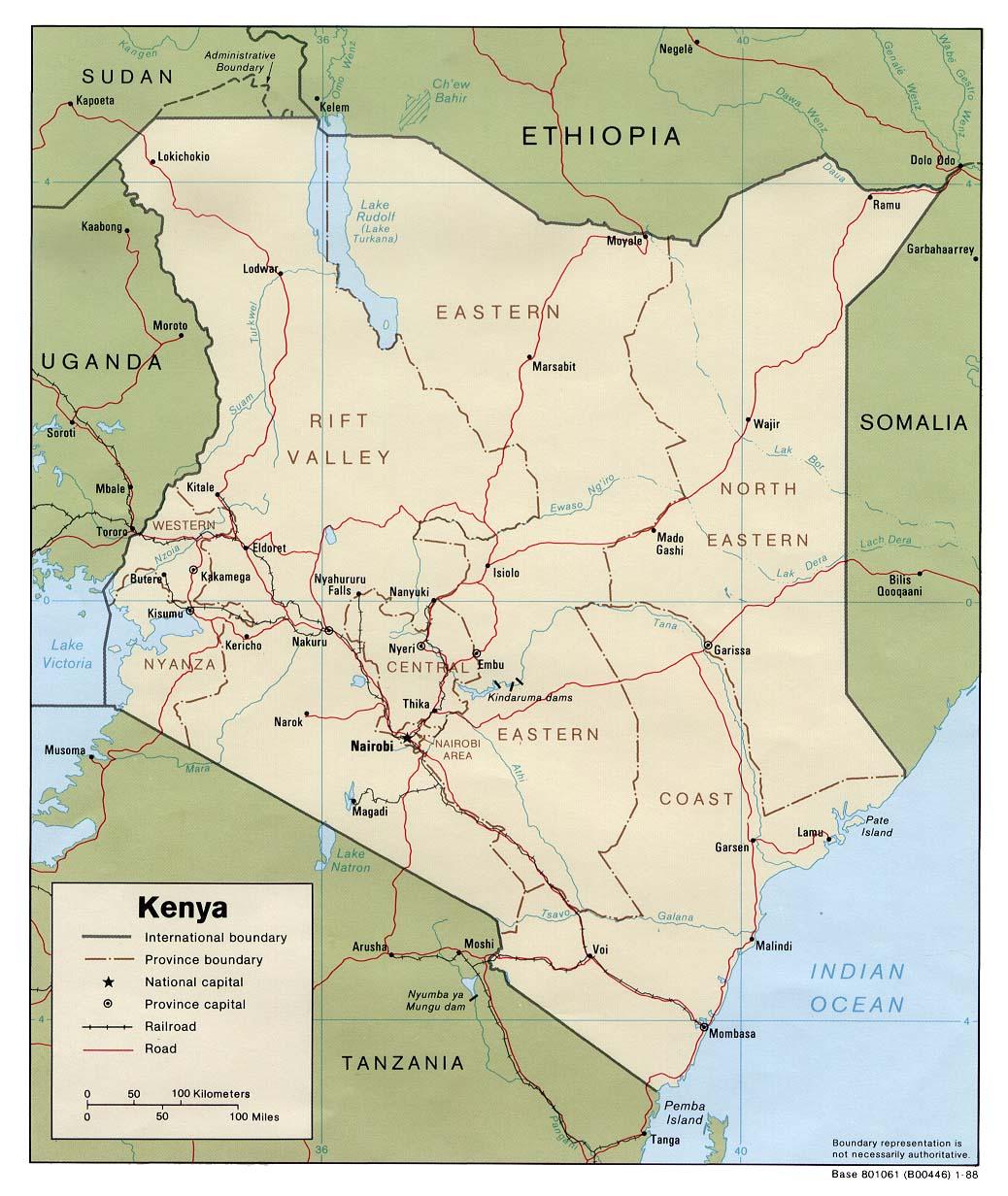 Kenia Karte.Landkarte Kenia Politische Karte Weltkarte Com Karten Und