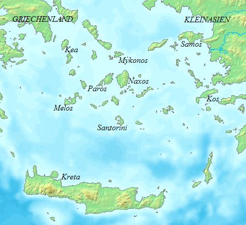 Kykladen Karte.übersichtskarte Kykladen Weltkarte Com Karten Und Stadtpläne Der
