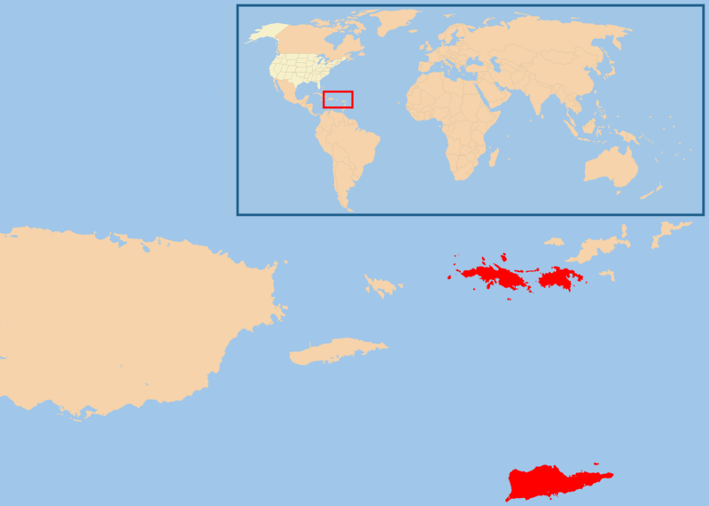 Karibik Karte Welt.Karte Amerikanische Jungferninseln Lage In Der Karibik Weltkarte