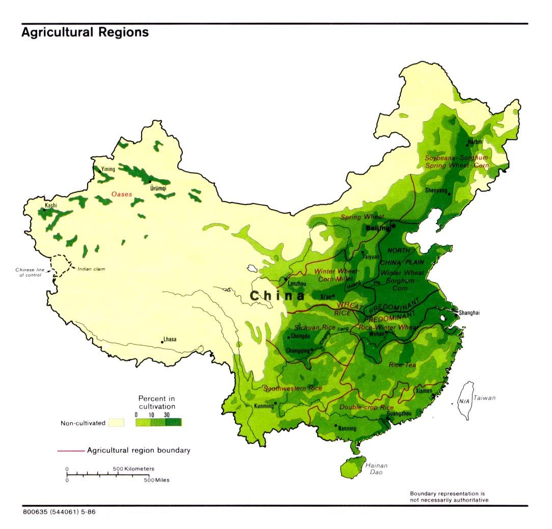 China Karte Physisch.Landkarte China Karte Landwirtschaft Weltkarte Com Karten Und
