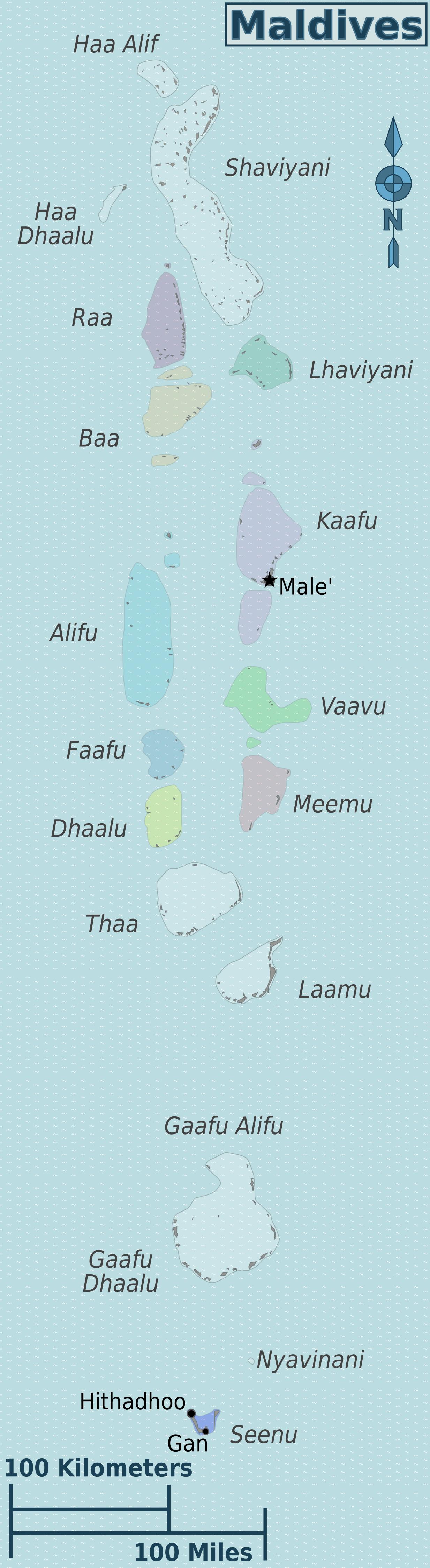 Malediven Karte Weltkarte.Landkarte Malediven Karte Regionen Weltkarte Com Karten Und