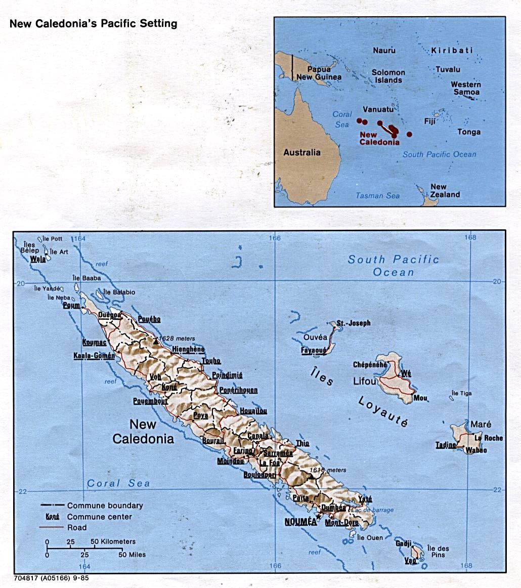 neukaledonien karte karte neukaledonien : Weltkarte.  Karten und Stadtpläne der Welt