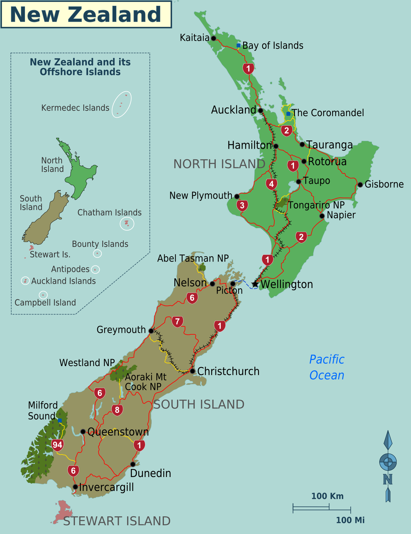neuseeland landkarte Landkarte Neuseeland (Regionen) : Weltkarte.  Karten und  neuseeland landkarte