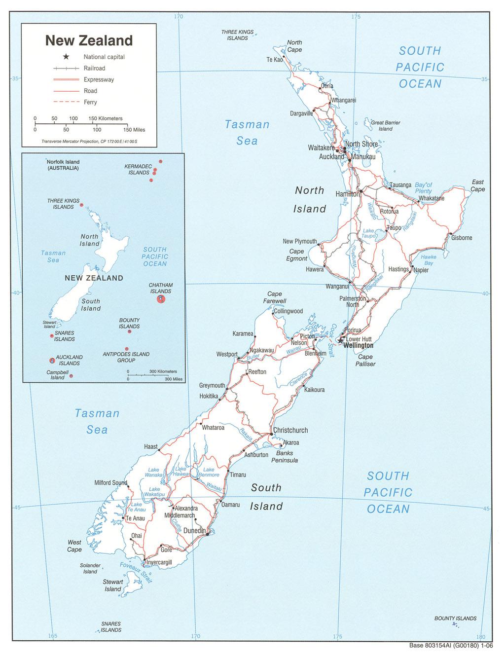 Landkarte Neuseeland Politische Karte Weltkarte Com Karten