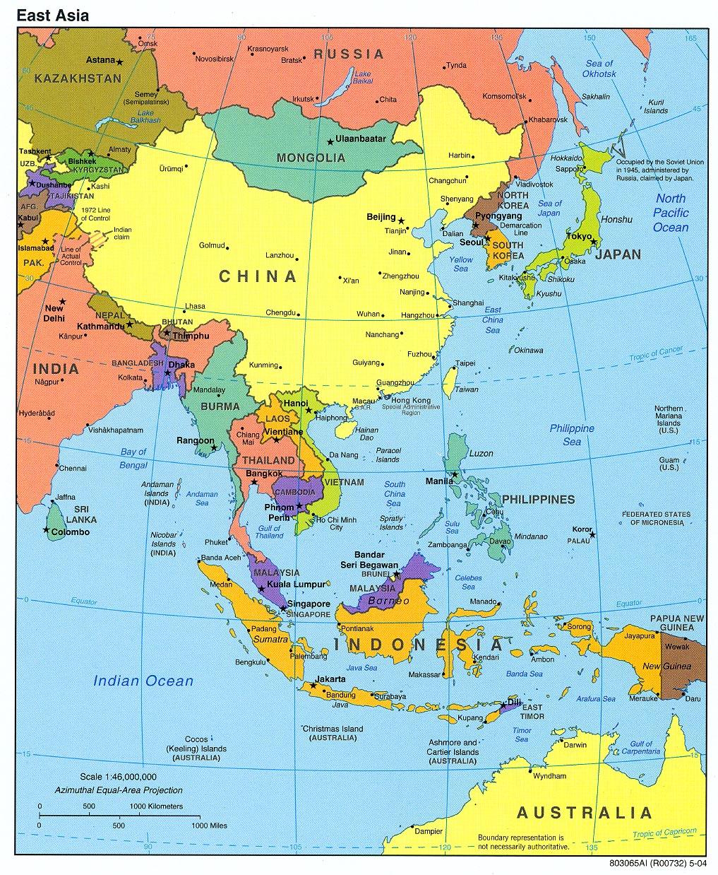 Karte Asien.Karte Ost Asien Reliefkarte Weltkarte Com Karten Und