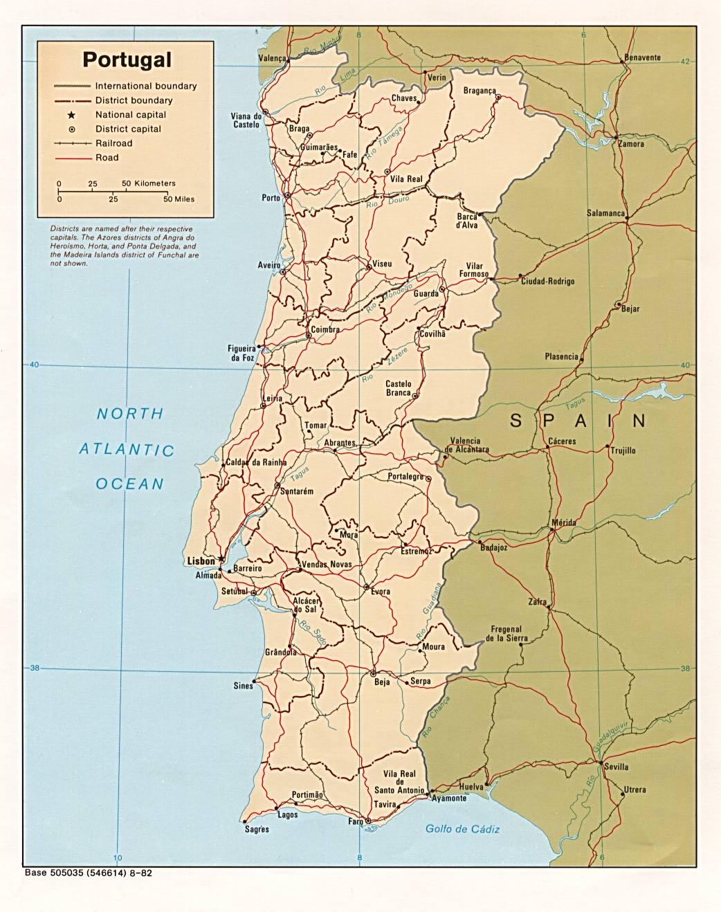 Landkarte Portugal Politische Karte Weltkarte Com Karten Und