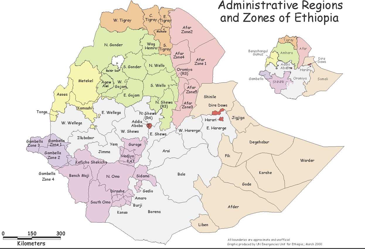 äthiopien karte Landkarte von Äthiopien (Karte der Provinzen) : Weltkarte.