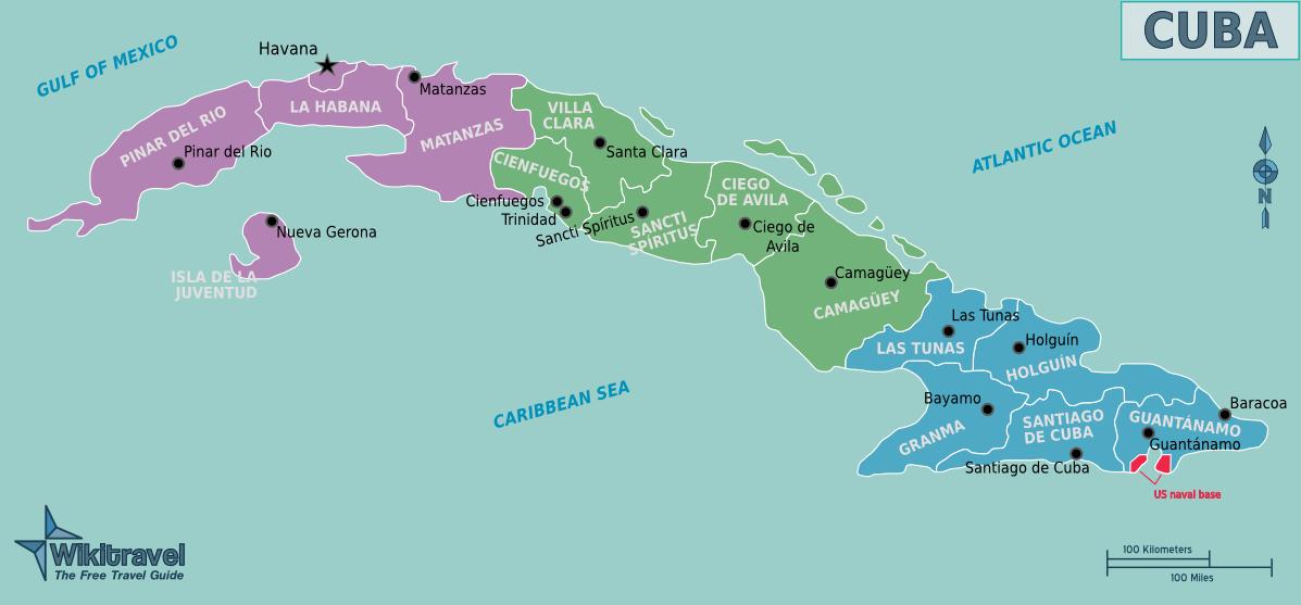 Karibik Karte Deutsch.Landkarte Kuba übersichtskarte Regionen Weltkarte Com Karten