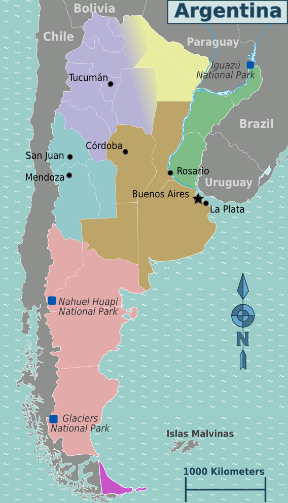 argentinien weltkarte Landkarte Argentinien (Regionen) : Weltkarte.  Karten und  argentinien weltkarte