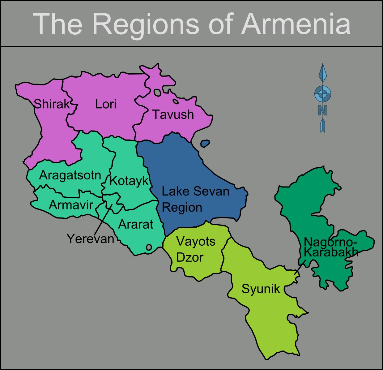 Landkarte Armenien Karte Regionen Weltkarte Com Karten Und Stadtplane Der Welt