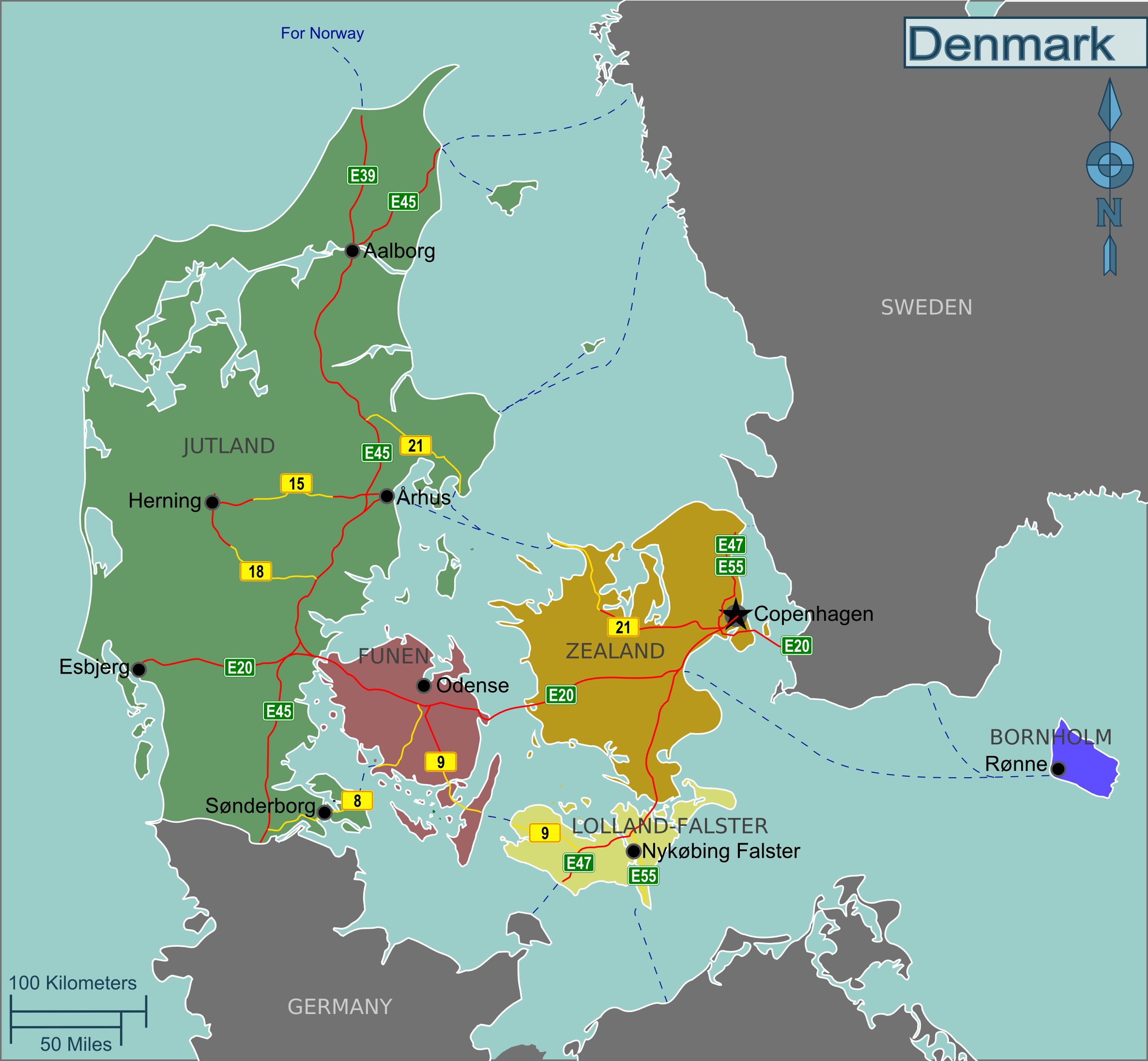 Landkarte d nemark regionen d nemarks for Weltkarte mit fotos