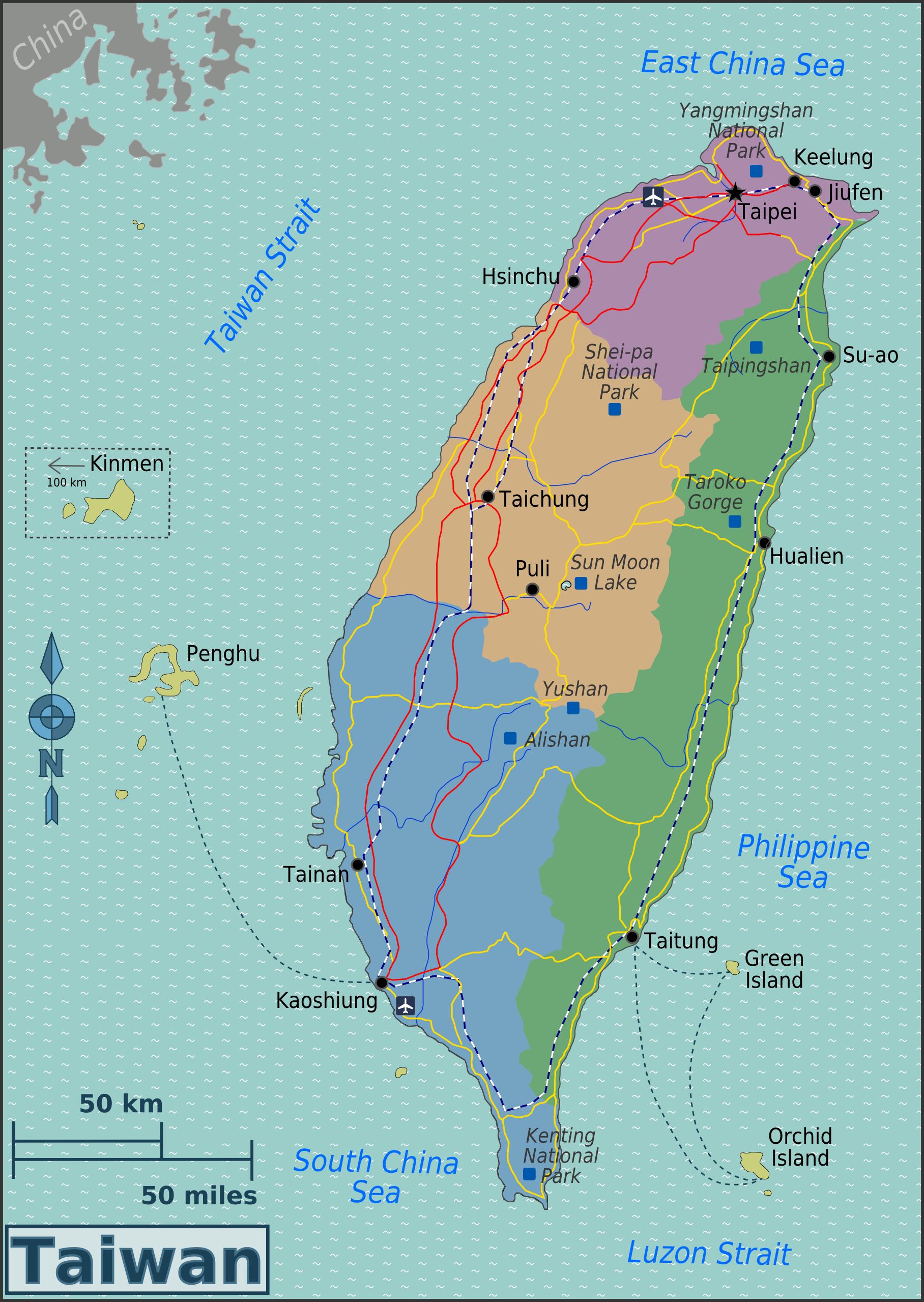 Karte Von.Karte Von Taiwan Karte Regionen Weltkarte Com Karten Und