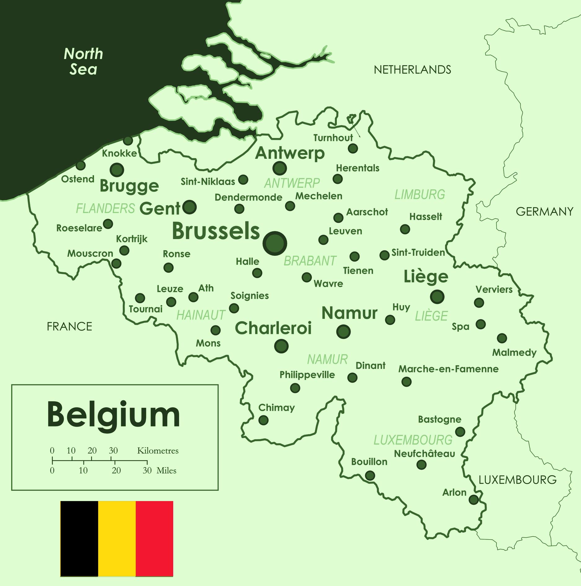 Anspruchsvoll Weltkarte Mit Städten Beste Wahl Landkarte Belgien (Übersichtskarte/städte)
