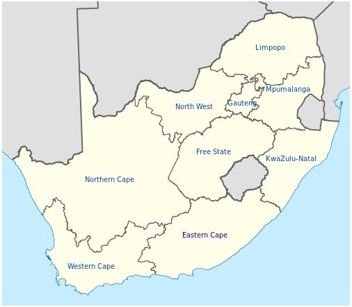 Südafrika Karte.Landkarte Südafrika Karte Provinzen Weltkarte Com Karten Und