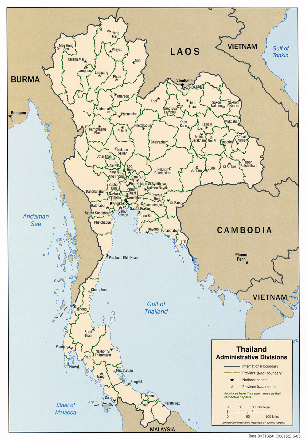 Thailand Karte.Landkarte Thailand Administrative Bezirke Weltkarte Com Karten