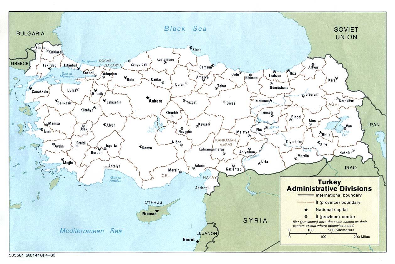 Karte Türkei.Landkarte Türkei Verwaltungsbezirke Weltkarte Com Karten Und