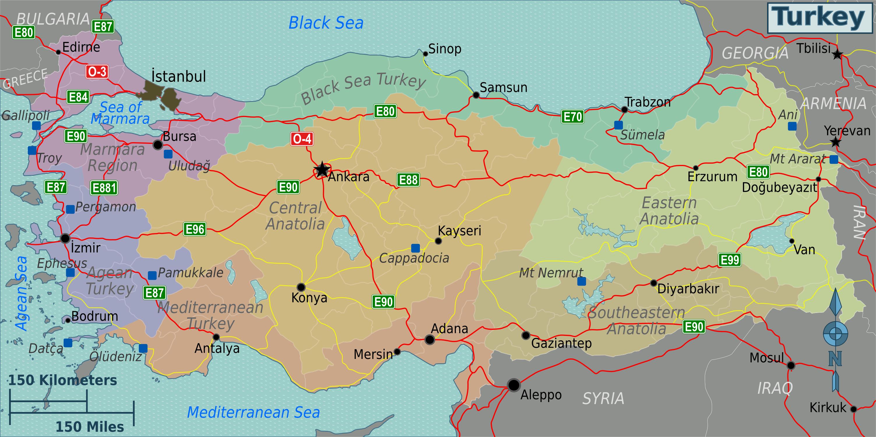 Karte Türkei.Landkarte Türkei Regionen Weltkarte Com Karten Und Stadtpläne