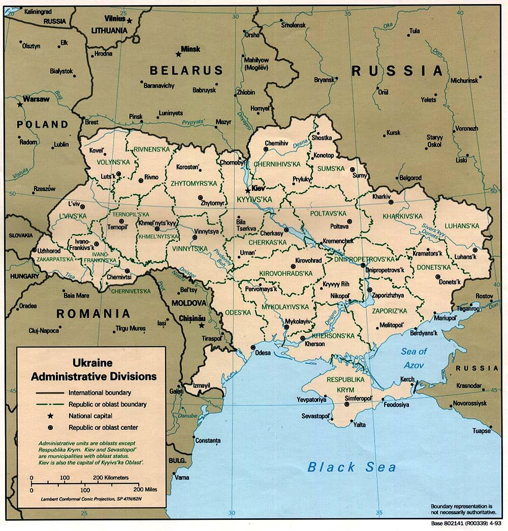 Landkarte Ukraine Karte Verwaltungsbezirke Weltkarte Com