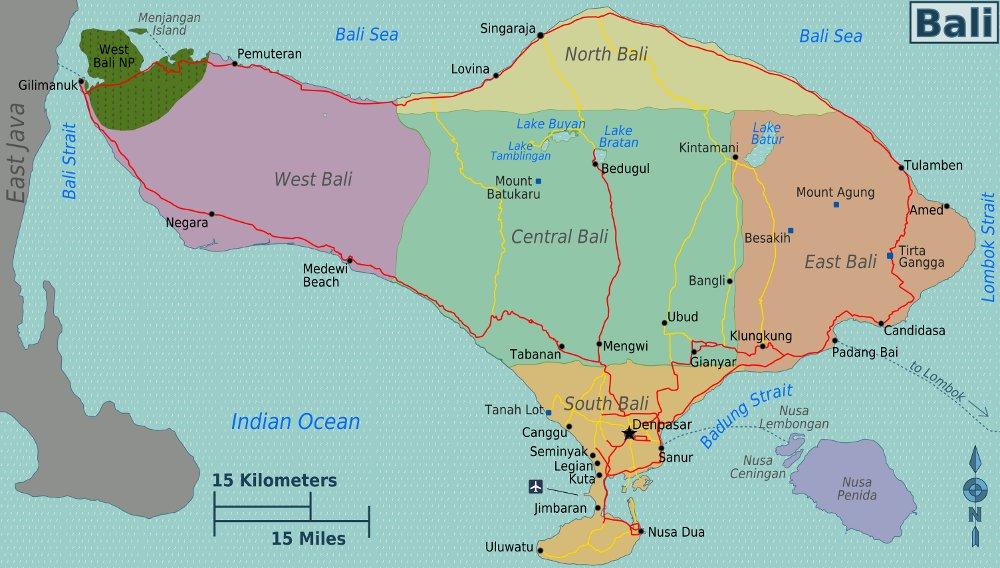 bali karte welt Landkarte Bali (Karte Regionen) : Weltkarte.  Karten und  bali karte welt