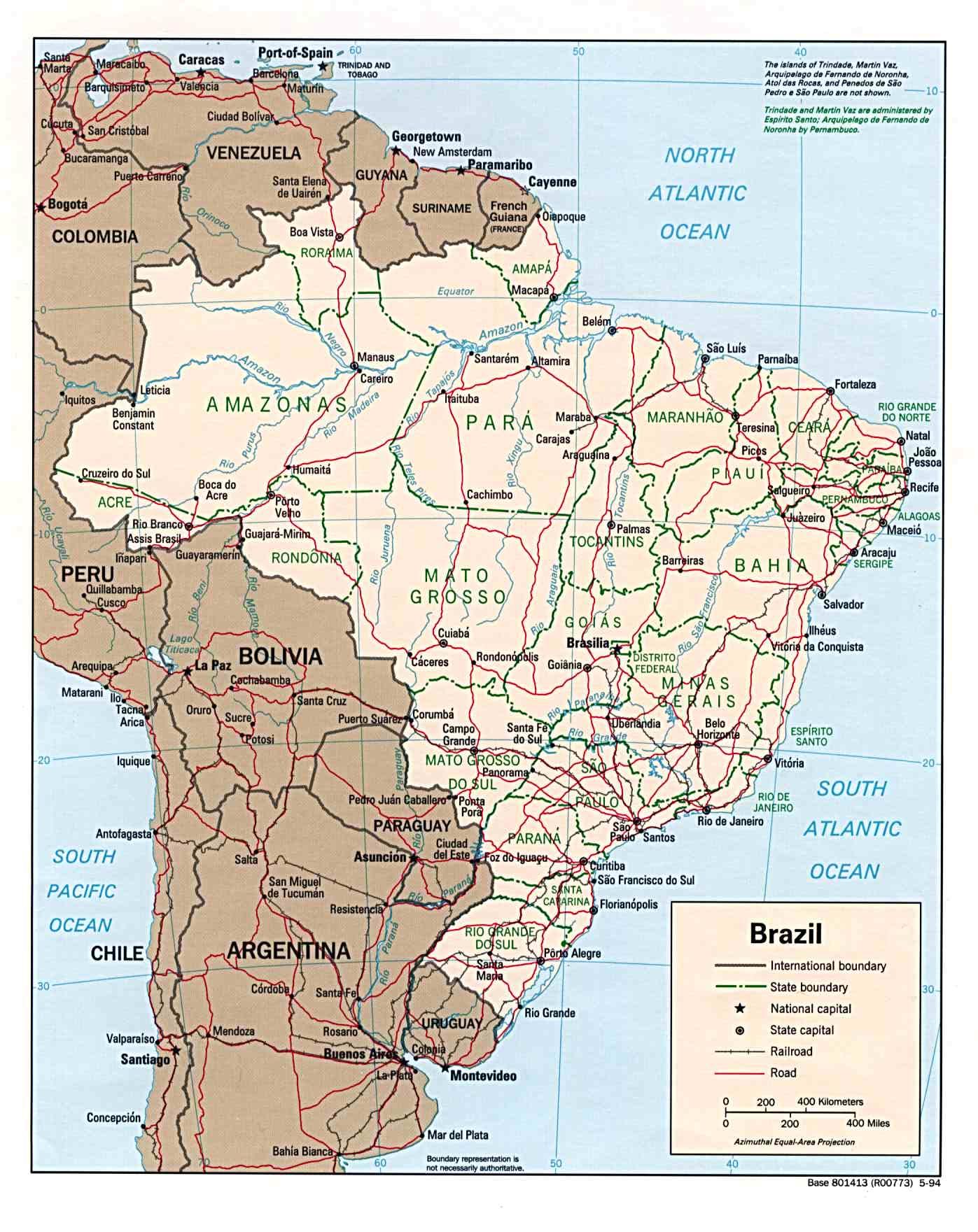 Brasilien Karte Welt.Landkarte Brasilien Politische Karte Weltkarte Com Karten Und