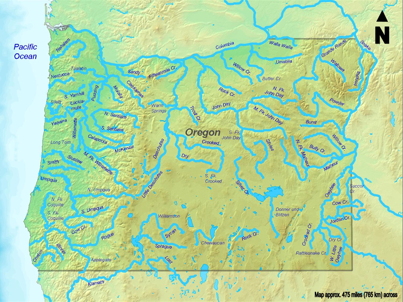 Amerika Karte Flusse Goudenelftal