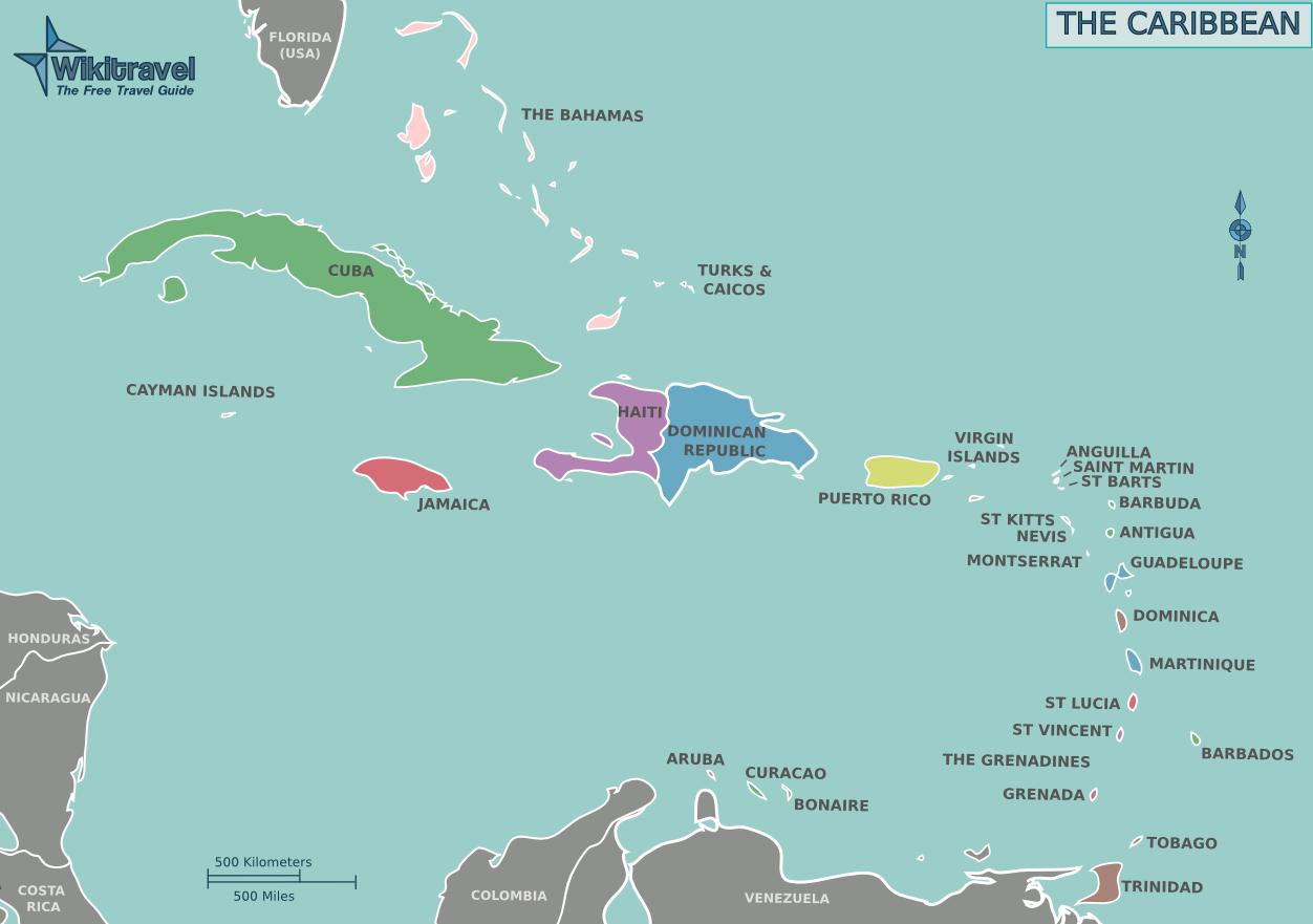 Karibik Karte.Karte Der Karibik übersichtskarte Weltkarte Com Karten Und