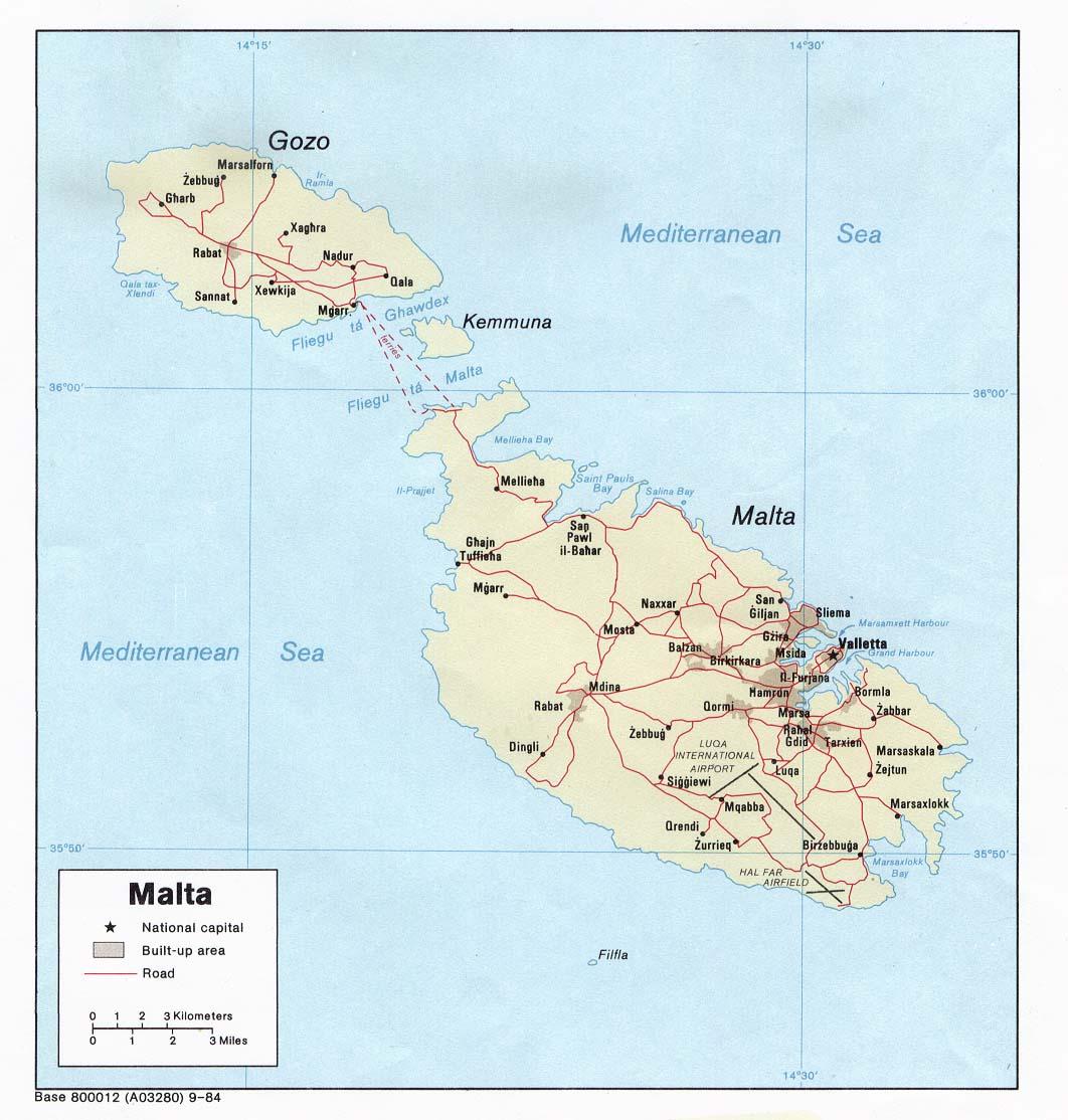 Karten Von Malta Karten Von Malta Zum Herunterladen Und Drucken