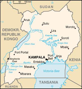 uganda karte Karte Uganda (kleine Übersichtskarte) : Weltkarte.  Karten und
