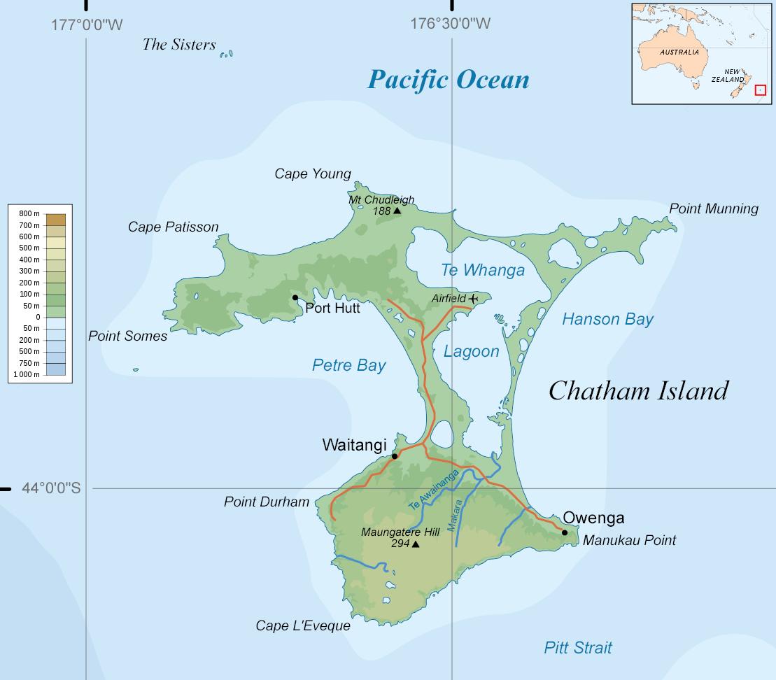 Stewart Island Topographic Map
