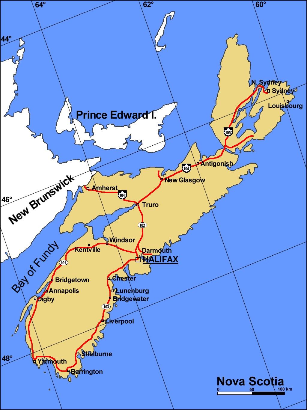 Verschiedene Weltkarte Mit Städten Beste Wahl Landkarte Nova Scotia (karte Städte, Englisch)