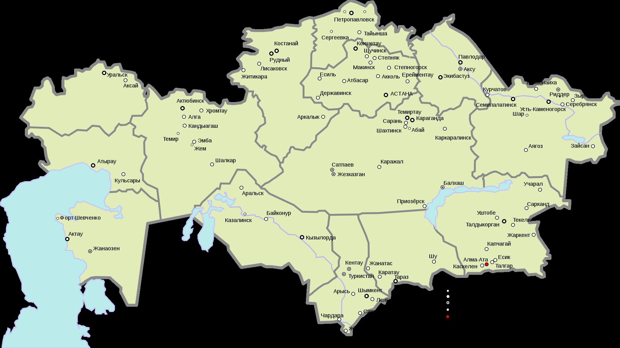 karte kasachstan Landkarte Kasachstan (Karte in lokaler Sprache) : Weltkarte. karte kasachstan