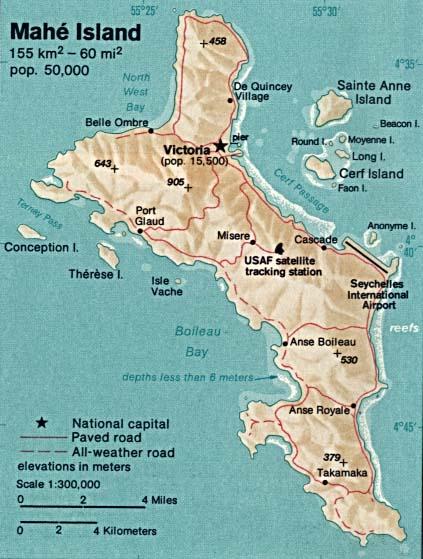 Seychellen Karte Afrika.Karte Mahe Insel Seychellen Weltkarte Com Karten Und