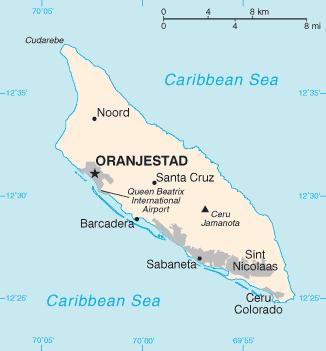 Aruba Karte Karibik.Landkarte Aruba übersichtskarte Weltkarte Com Karten Und