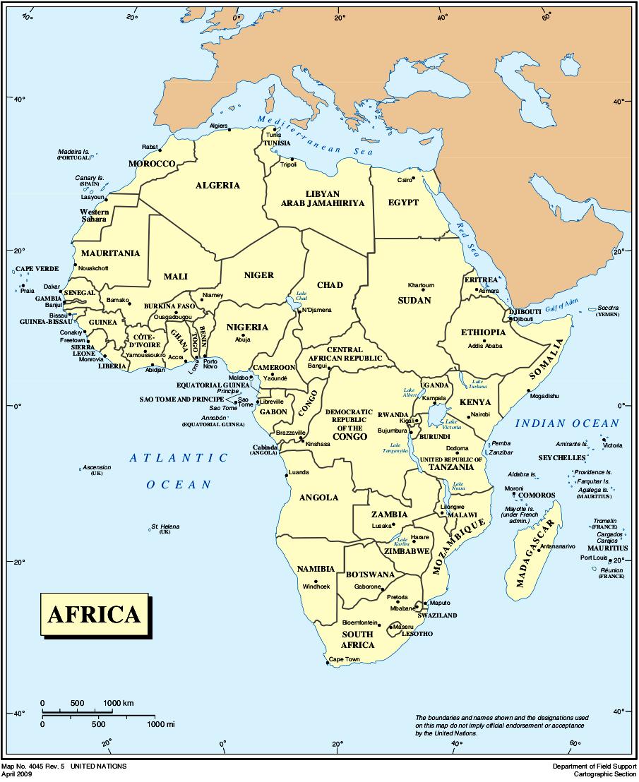 Karte Afrika.Landkarte Afrika Politische Karte Französisch Weltkarte Com