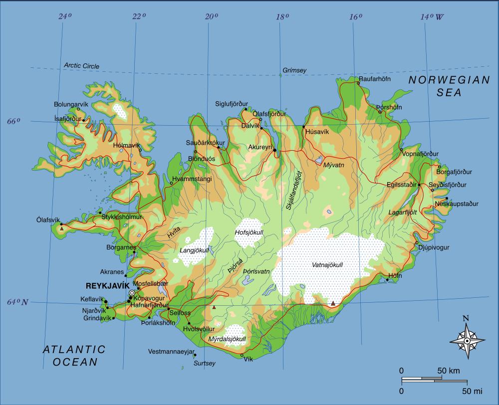 island landkarte Landkarte Island (Übersichtskarte) : Weltkarte.  Karten und  island landkarte